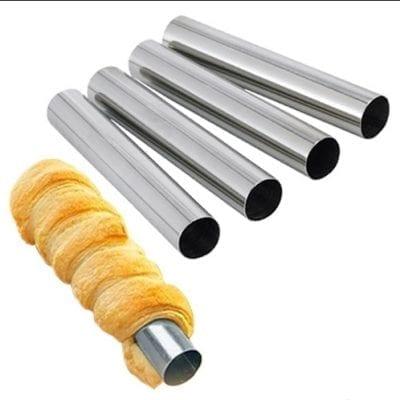 Набор трубочек для выпечки алюминий D-2.5см H 14см (2шт)