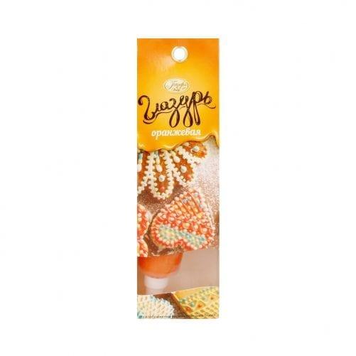 Глазурь кондитерская оранжевая Парфэ, 30г