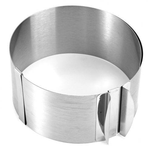 Раздвижная форма для выпечки 16 - 30 см (8,5 см высота)