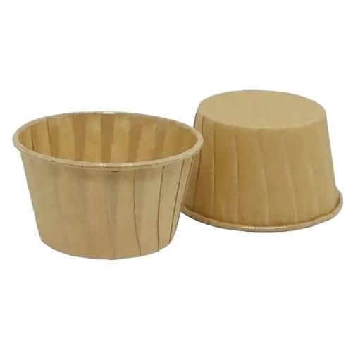Капсулы для капкейков усиленные крафт 10 шт