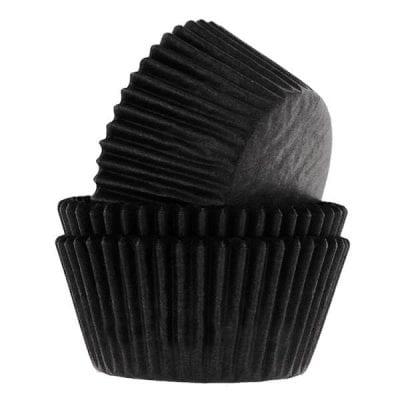 Капсулы для капкейков чёрные 25 шт