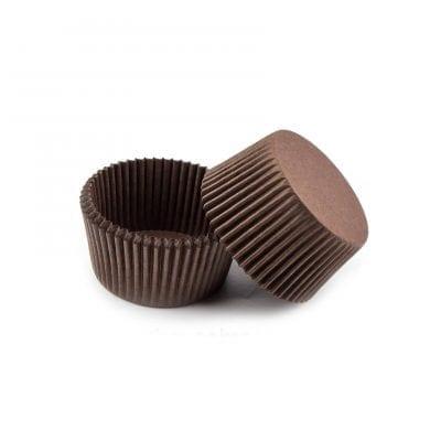 Капсулы для конфет и кейкпопсов коричневые 25 шт