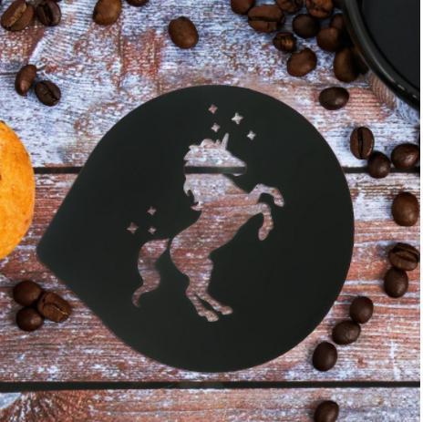 Трафарет для кофе Единорог