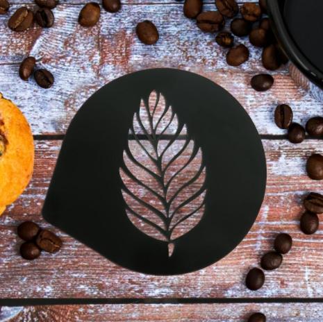 Трафарет для кофе Перышко