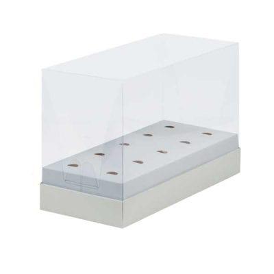 Коробка под кейк-попсы и леденцы с пластиковой крышкой белая 240*110*160 мм