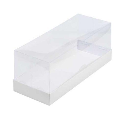 Коробка под рулет с пластиковой крышкой белая 300*120*120 мм