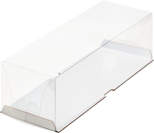 Коробка под рулет с пластиковым куполом белая 300*100*90 мм
