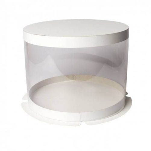Коробка тубус для торта прозрачная d160*h160 мм