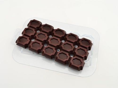 """Форма для шоколада плитка """"Насквозь круги"""""""