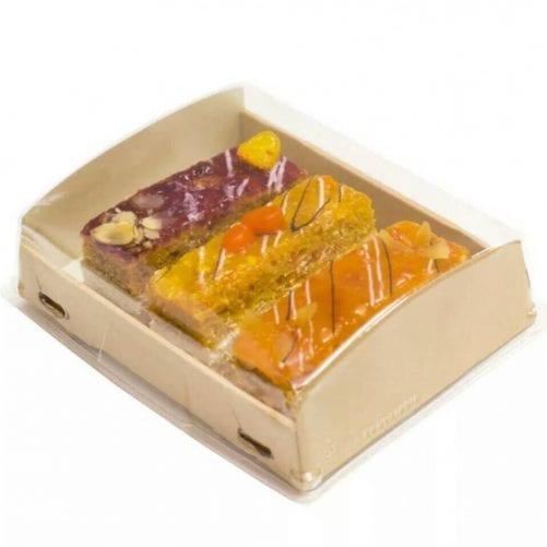 Коробка для эклеров и печенья 200*100*40 мм