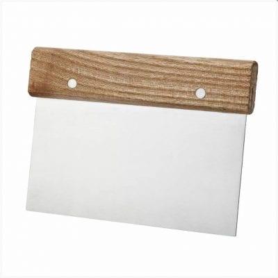 Скребок кондитерский (шпатель) с деревянной ручкой 15 см