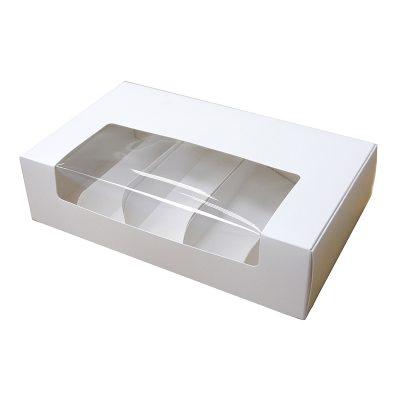 Коробка для эклеров и эскимо белая, под 4 шт 250*150*50 мм
