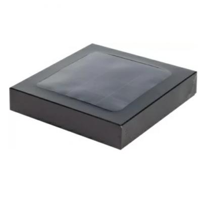 Коробка на 9 конфет с крышкой черная
