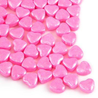 Посыпка кондитерская Сердечки розовые перламутровые, 50 гр